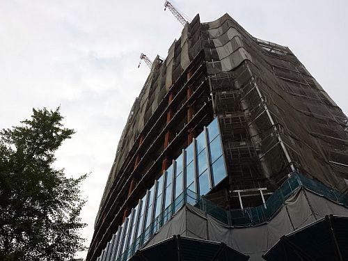 建設中の名古屋商科大学丸の内キャンパス